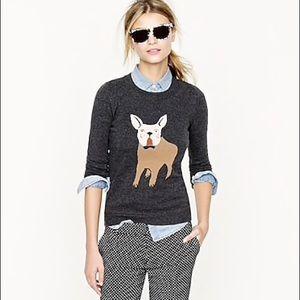 J. Crew Frenchie Bulldog Sweater